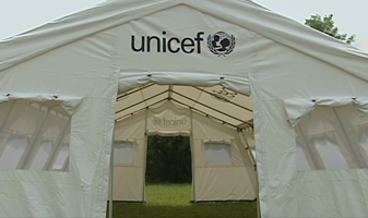 Acome (HK)  Disaster Relief Tent as supplied to UNICEF